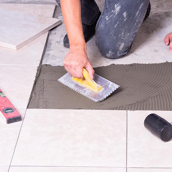 Tiles on Concrete Floor